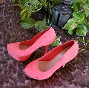 Coral color High Heels